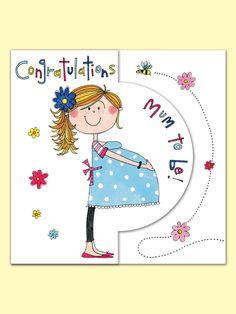 Congratulations Mum to Be Greeting Card from Rachel Ellen Designs