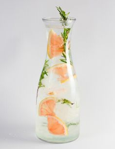 Grapefruit and Rosemary Infused Water.
