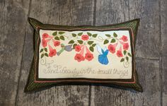Wool applique Summer Blessing pillow in series by Pastime Pieces. Finished size: x Wool Applique, Coin Purse, Blessed, It Is Finished, Quilts, Pillows, Sewing, Blessings, Pattern