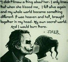 Image discovered by Harley Quinn. Find images and videos about love, quotes and joker on We Heart It - the app to get lost in what you love. Joker Quotes, Me Quotes, Devil Quotes, Queen Quotes, Property Of Joker, Citations Disney, Madly In Love, My Love, Harey Quinn