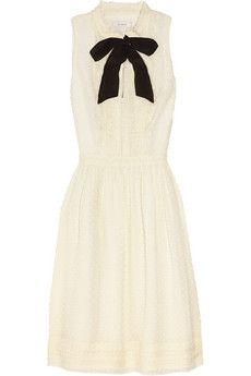 Swiss-dot silk-blend dress by J.Crew