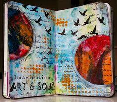 Creativity: Art & Soul .. Art Journal Inspiration, Stencil Art, Expressive Art, Word Art, Art, Sketchbook Journaling, Scrapbook Art, Art Journal, Altered Art