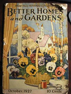 """1927, October. """"Better Homes and Gardens"""" magazine."""