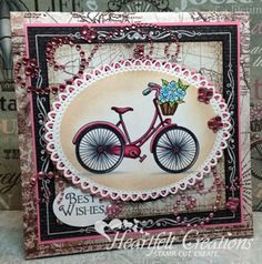Heartfelt Creations Balloon and Bicycle Stamps