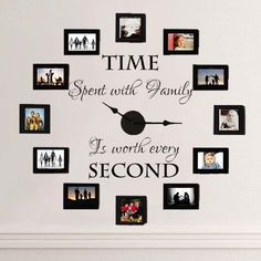 Time Spent With Family is Worth Every Second Wall Decal in Home & Garden | eBay