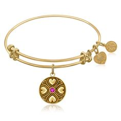An expandable bangle in yellow tone brass. Wisdom. Spirituality. Sobriety. Security.Specification Condition: New with tags Finish: Polished Metal: Brass Style: