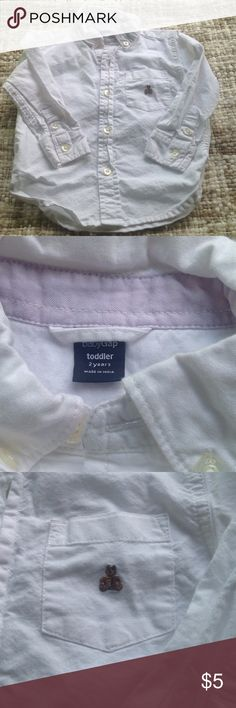 Like New Baby Gap Toddler Shirt Adorable white button down. I've looked this over many times and see no stains or flaws. Baby GAP Shirts & Tops Button Down Shirts