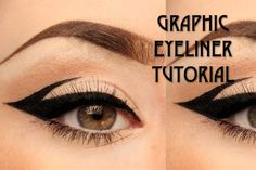 Graphic eyeliner tutorial