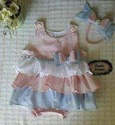 Baby Dress Patterns, Baby Clothes Patterns, Baby Girl Fashion, Kids Fashion, Kids Boutique, Toddler Girl Dresses, Girls Rompers, Cute Baby Girl, Baby Sewing