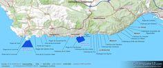 Carte de la Côte Bleue : Calanques, plages et réserves marines