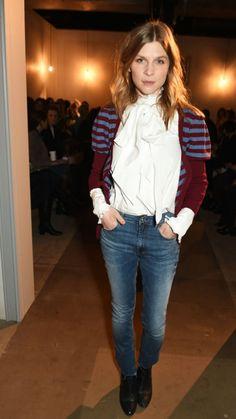 Clemence Posey at Erdem- London Fashion Week
