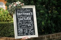 Wedding Shower Signs, Bridal Shower Welcome Sign, Wedding Signs, Wedding Day, Ceremony Signs, Chalkboard Wedding, Botanical Gardens, New Orleans, Things To Come