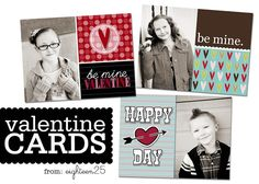 Custom Valentine's Photo Cards - free download