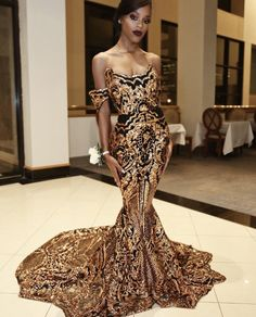 2018 new luxury gold black prom dresses mermaid off shoulder sexy african prom gowns vestidos special occasion dresses evening wear sexy short evening Gold Prom Dresses, Mermaid Dresses, Formal Dresses, Formal Prom, African Prom Dresses, Prom Gowns, Mermaid Gown, Satin Dresses, Mermaid Evening Gown