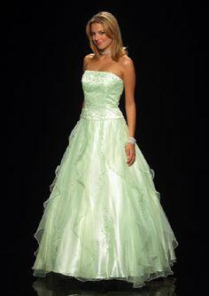 long elegant prom dress - Love the soft color!