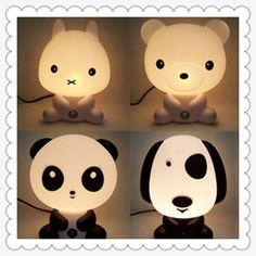 Cartoon night light plug switch small table lamp teethe baby lamp child socket eye-lantern