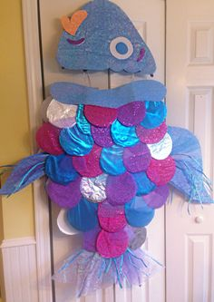 Rainbow fish costume for book character day and/or book reading. Story Book Costumes, Book Character Costumes, World Book Day Costumes, Book Week Costume, Toddler Fish Costume, Rainbow Fish Costume, Little Mermaid Play, Little Mermaid Costumes, Fruit Costumes