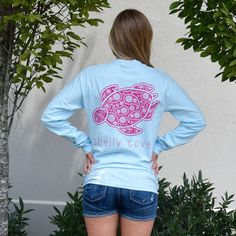 Chambray Paisley Long Sleeve Pocket Tee from Shelly Cove. Portion of each sale goes directly to seaturtlehospital.org!