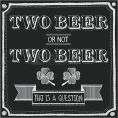 kreidetafel: zwei Bier oder zwei Bier nicht
