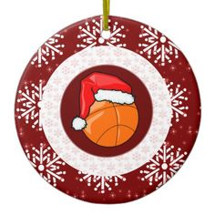 Ornament - Santa Basketball