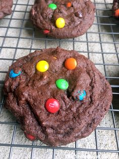 Soft Chewy Chocolate M&M Cookies