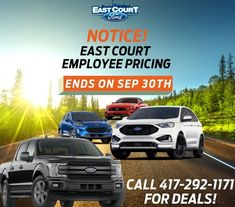 Last Few Days of East Court Ford Lincoln Employee Pricing Deals! Hurry before we are sold out of our 2020s. #Ontario #Toronto #Deals #Dealer #Largest #Best Driving Test, Lincoln, Ontario, Toronto, Ford