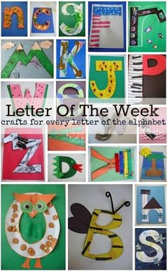 Letter of the week crafts for preschool.