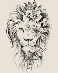 Image could contain: drawing – flower tattoos – best tattoo – flower tattoos designs - tatoo feminina Kunst Tattoos, Leo Tattoos, Bild Tattoos, Cute Tattoos, Beautiful Tattoos, Body Art Tattoos, Tattoos For Guys, Tatoos, Awesome Tattoos
