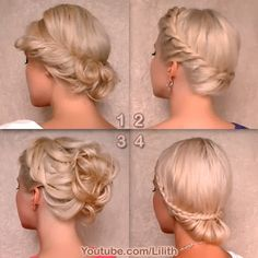 13 Updo Video Tutorials by Lilith Moon: Knotted Updo, Bohemian Half Up Half Down Crown Braid, Twist Updo, Easy Prom / Wedding / Holiday Updo, Greek Goddess, Braided Prom, Pixie Lott Romantic Braid Updo, Dutch Braid, etc.