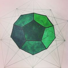 Dodecahedron sacred geometry art