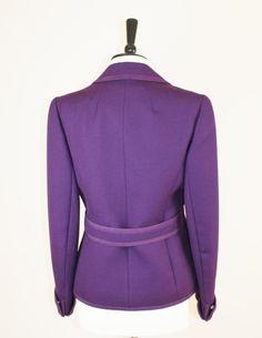 Tailored Purple Vintage Jacket By Cojana by JannesVintage on Etsy 54fe712ec