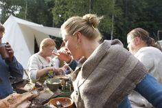 Viking clothes, wares, tools, camp, hair, lots of photos