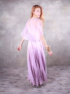 Pale Pastel lavender ladies PROM DRESS Retro by HarlowGirls