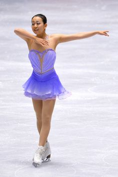 Mao Asada of Japan short program  2013/2014 NHK Trophy - Purple Figure Skating / Ice Skating dress inspiration for Sk8 Gr8 Designs