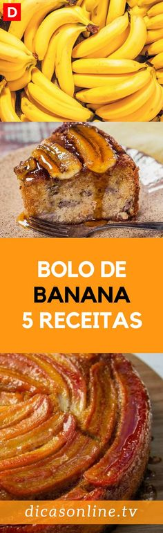 Bolo de banana - Como fazer