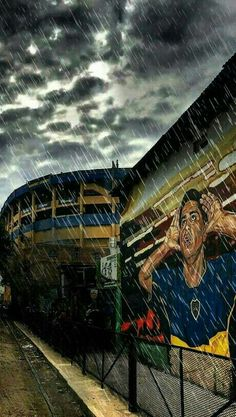 Boca Juniors Bombonera Roman Mural Neymar, Messi, Gaston, Football Soccer, Romance, River, World, Frases, Soccer Pics