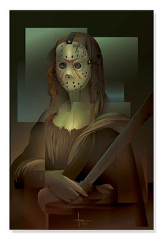 A series of vector illustrations for the Goiconda Project, which pays tribute to the incredible smile of Mona Lisa but also pays homage to 3 iconic American Horrors- Carrie, Jason Voorhees ( Friday the 13th), and Chatterbox(Hellraiser).