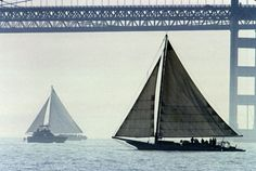 Skipjack on Chesapeake Bay - Skipjacks, now rare, are a kind of working sailboat that were developed on Maryland's Eastern Shore and were peculiar to that area.