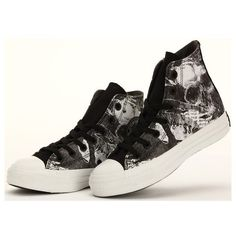 Converse Shoes Black New Design-White Skull Limited Edition Chuck... (80 599cd1b039e3e