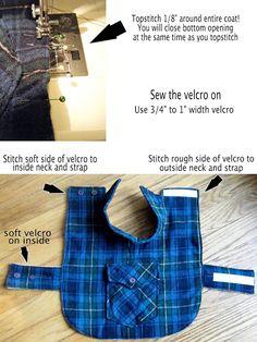 DIY Pet Coat Pattern – Sewing it Together! | bevykona