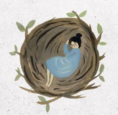 Asleep in a Nest, Gemma Koomen. When everything starts getting incredibly busy in the spring I need to remember to come back to my nest to recharge and centre myself.