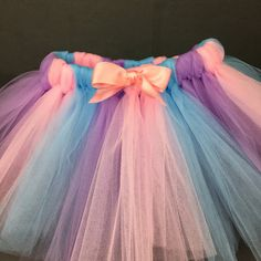 Equipo rosado del tutú púrpura y azul falda del tutú Smash