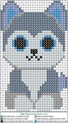 Husky EN PUNTO DE CRUZ, Cross stitch patterns