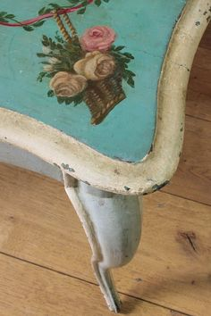 Vintage Home: detail of Victorian painted table