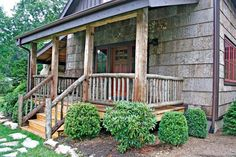 Cabin with poplar bark siding