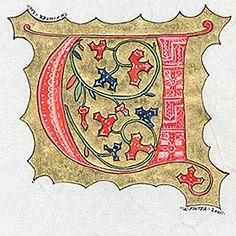Letter U, Kathryn Finter Contemporary Manuscript Illumination