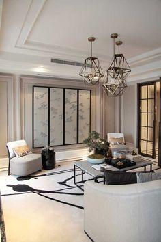 classic and chic interior design decoration