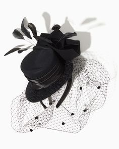 Tuxedo Fascinator Headband | Hair Accessories - Tuxedo Chic Special Occasion - I have one and love it!  So fun and easy to wear!