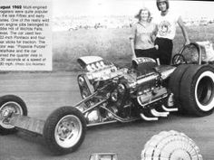 Eddie Hill's twin engined dual slicks dragster