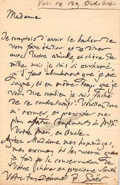 Italian opera composer his career focused mostly on operas and oratorios. Autograph letter signed, handwritten in French, sold untranslated. One page, sized x inches, in very good condition. Text Back, First Page, Handwriting, Lettering, Signs, Opera, Career, French, Products